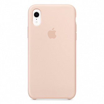 "Apple silicon case iPhone XR "" Pink Sand """