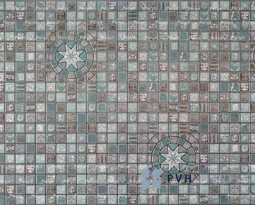 Пластиковая Декоративная Панель ПВХ Медальон Олива 956*480 мм