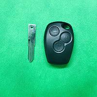 Ключ Рено Renault 3 кнопки лезвие VAC102 PCF7947 ID46 434Mhz.