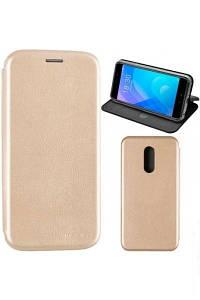 Чехол книжка на Huawei Y7 Золотой кожаный защитный чехол для телефона, G-Case Ranger Series.