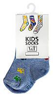 Носки для малышей Kids Socks V&T classic ШДКг 024-0485 Лапки р.8-10 Светло-голубой меланж