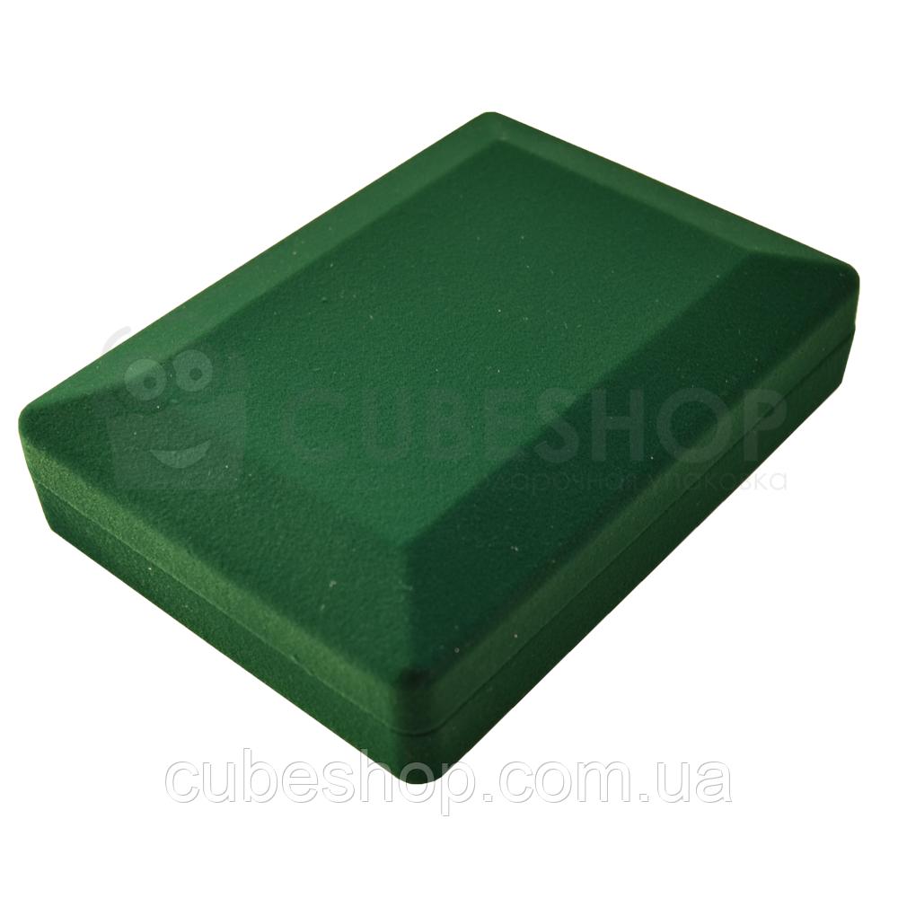 Футляр для колье, орденов, медалей, значков 90х124х28 мм темно-зеленый
