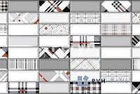 Пластиковая Декоративная Панель ПВХ Импровизация Красная 957*477мм