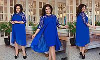 Женское стильное, модное платье, красивое нарядное платье, батал