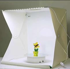 Световой Лайт бокс с 2x LED подсветкой для предметной макросъемки 40*40*40 см