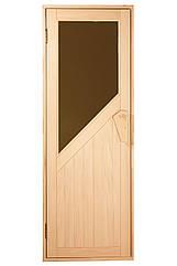 Дверь для бани и сауны Tesli Авангард Новая 1900 х 700