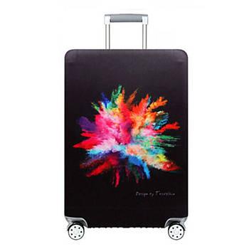 Чохол на валізу захисний дорожній. Накидка еластична для валізи з микродайвинга, розмір M