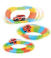 Детская игрушечная гоночная трасса с машинкой Magic track 220 деталей, гоночная машинка