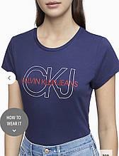 Футболка женская Calvin klein Ckj Outline Logo Crewneck