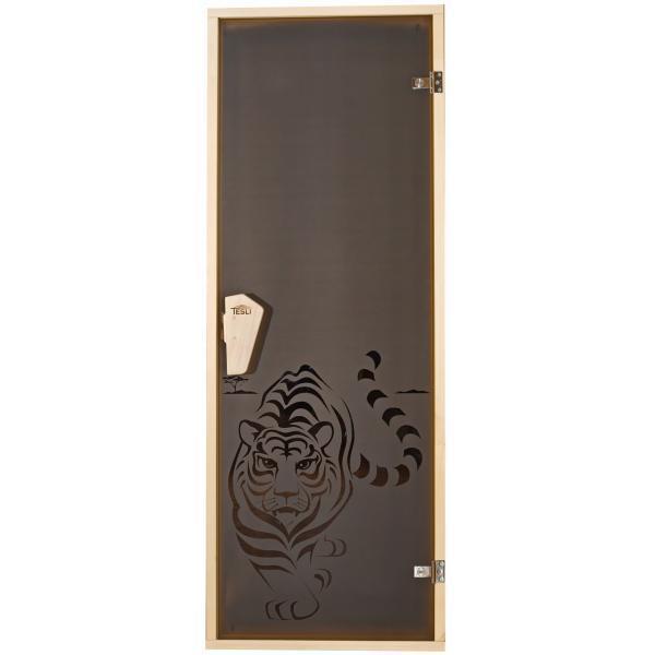 Двері для лазні та сауни Tesli Тигр 1900 х 700