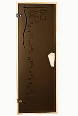 Дверь для бани  и сауны Tesli Graphic 1900 х 700