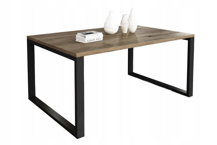 Журнальный стол в стиле лофт Ergo, Dark oak