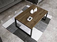 Журнальный стол в стиле лофт Ergo, Dark oak, фото 3
