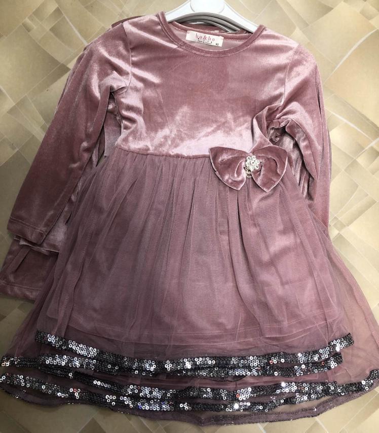 Платье для девочки тонкий велюр р.92-128 опт