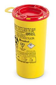 Контейнер для сбора иголок и медицинских отходов 0,5л