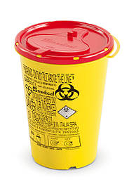 Контейнер для сбора иголок и медицинских отходов 0,7л