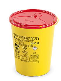 Контейнер для сбора иголок и медицинских отходов 3л