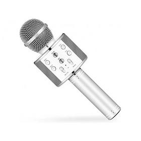 Микрофон DM Караоке WS858  Серебро