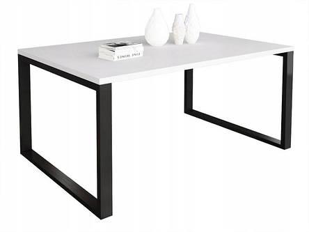 Журнальный стол в стиле лофт Ergo, White, фото 2