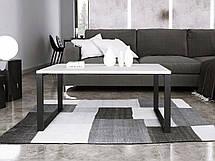 Журнальный стол в стиле лофт Ergo, White, фото 3