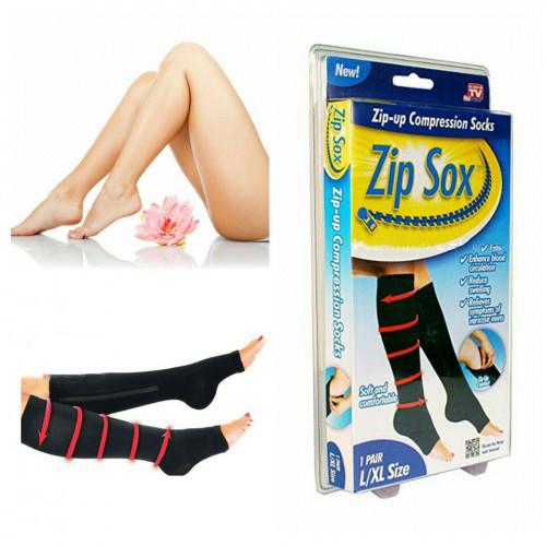 Компрессионные гольфы Zip Sox,носки от варикоза зип сокс черные