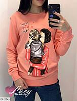 Женские стильные свитшоты разных цветов с принтом, фото 1