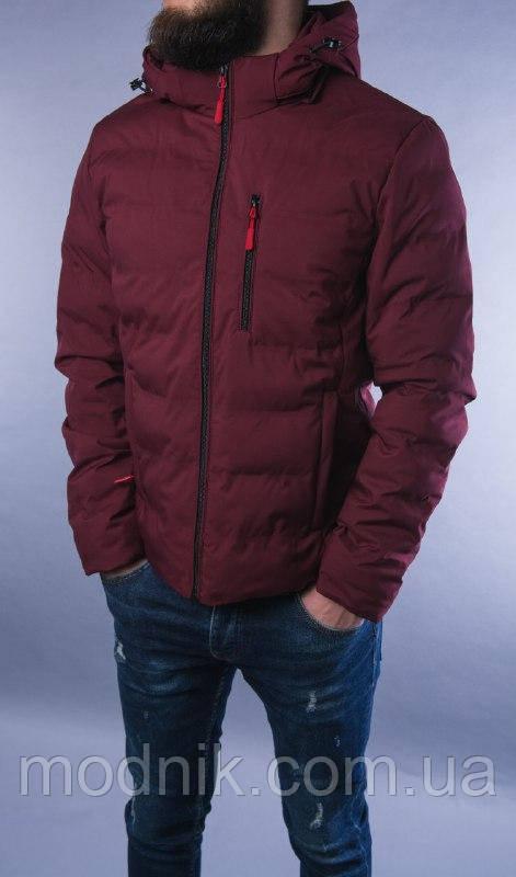 Мужская демисезонная куртка (бордовая) - Турция