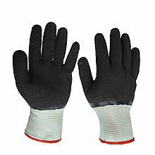 Перчатки рабочие Dermagrip, нейлоновые со вспененным латексным покрытием, уп. — 12 пар