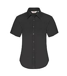 Женская рубашка с коротким рукавом OxFord черная 000-36
