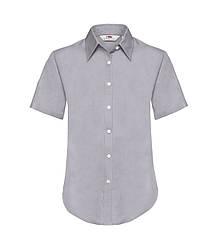 Женская рубашка с коротким рукавом OxFord серая 000-94