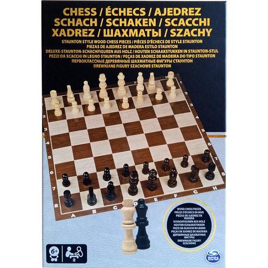 "Настольная игра ""Шахматы"" (деревянные фигуры) SM98367/6033313 Spin Master"