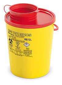 Контейнер для сбора иголок и медицинских отходов 12л