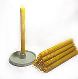 Свечи из вощины катаные ручной работы (высота 26 см диаметр 2,3 см), фото 2