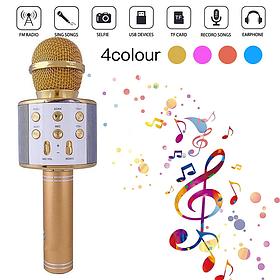 Микрофон DM Караоке WS858  Золотой