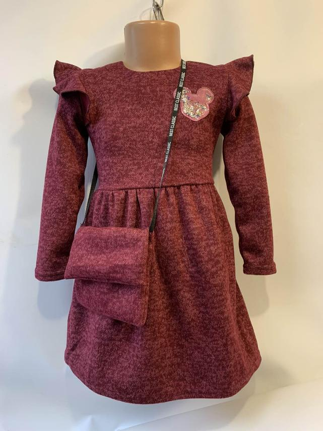 Детское платье для девочки с сумочкой р.1-6 лет опт