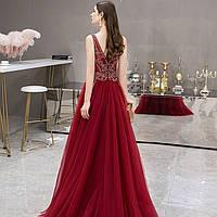 Вечерние Выпускное красное платье. Випусна Вечірня сукня червона. Платье А силует с пышной юбкой