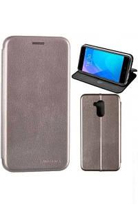 Чехол книжка на Samsung A307 (A30s) Серый кожаный защитный чехол для телефона, G-Case Ranger Series.