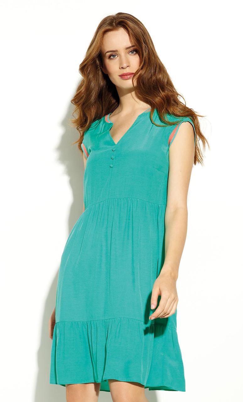 Летнее платье с коротким рукавом зеленого цвета. Модель Kalidea Zaps, коллекция весна-лето 2020.