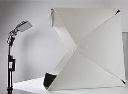 Световой Лайт бокс с 2x LED подсветкой для предметной макросъемки 30*30*30 см