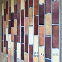 Пластиковая Декоративная Панель ПВХ Регул Терракота 983*497 мм, фото 4