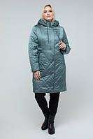 Тепла зимова куртка із плащівки, розміри 50-60