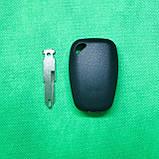 Корпус автоключа для OPEL (ОПЕЛЬ) Movano, Vivaro 2 кнопки, лезвие NE 73, с чипом id 46 частота 433 mhz, фото 2