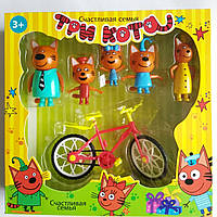"""Игровой набор """"Три кота"""" с велосипедом"""