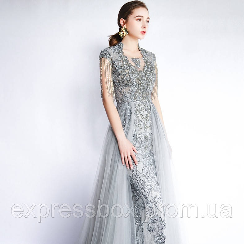 Розкішна розшита вечірня сукня Расшитое вечерние платье ручной работы