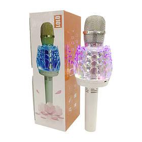Микрофон Караоке DM Q101с подсветкой Белый