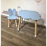 Дитячий стіл, 1 стілець (зайчик і столик хмара), фото 3