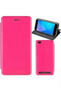 Чехол книжка на Samsung J400 (J4-2018) Розовый кожаный защитный чехол для телефона, G-Case Ranger Series.