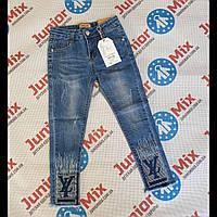 Модные джинсы детские для девочек оптом 116--146см GRACE