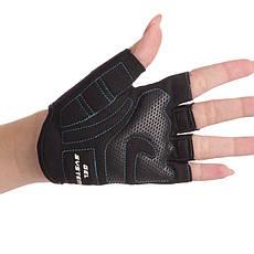 Перчатки для фитнеса женские MARATON черно-голубой AI-04-1519, фото 2