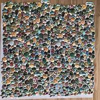 Пластиковая Декоративная Панель ПВХ Галька Зеленая 955*477 мм